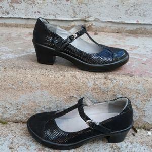 Alegria coco black snake Mary jane shoes